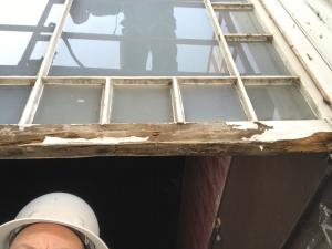 3rd floor window in need of repair