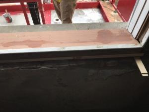 New mahogany sill